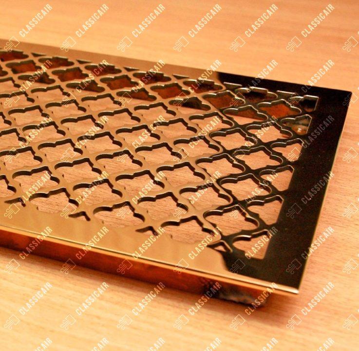 Полированная латунная решетка для вентиляции