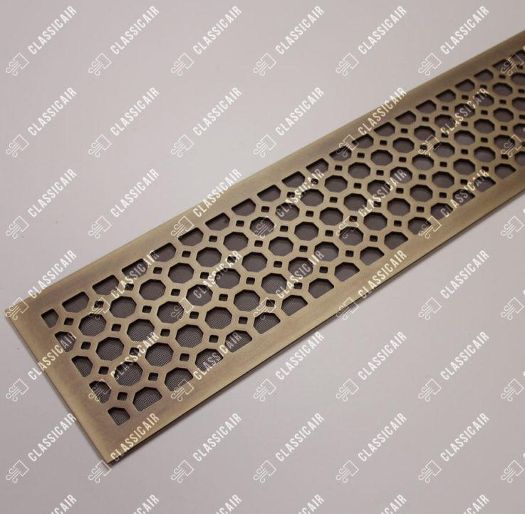 Напольная латунная решетка с выборкой