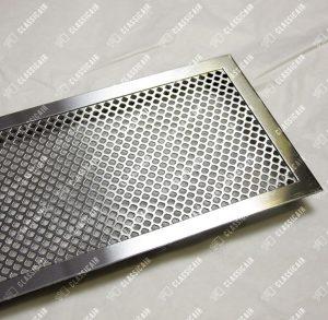 Решетка из нержавеющей стали с накладной рамкой