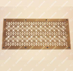 Плоская вентиляционная решетка из латуни