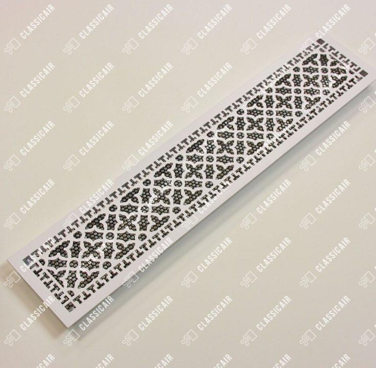 Белая декоративная вентиляционная решетка с подложкой