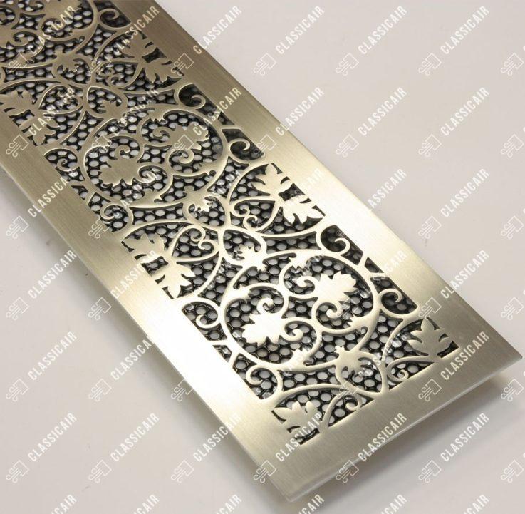 Вентиляционная декоративная решетка из нержавеющей стали