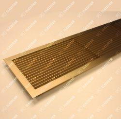 Вентиляционая решетка из латуни с жалюзи