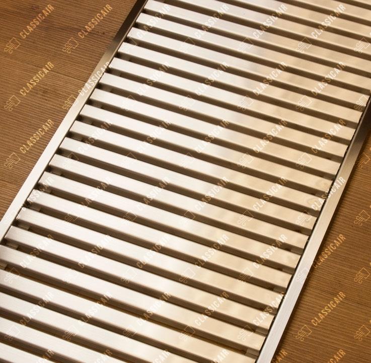 Ламельная напольная решетка из нержавеющей стали
