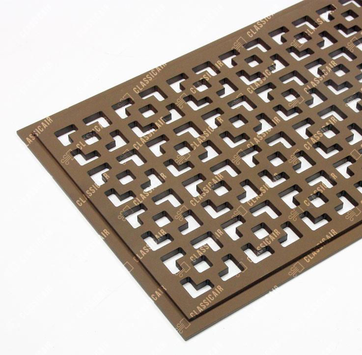 Напольная решетка с покраской в коричневый цвет