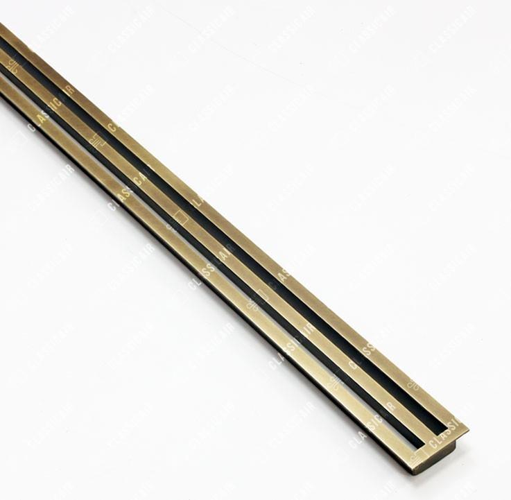Простая щелевая конструкция из состаренной латуни