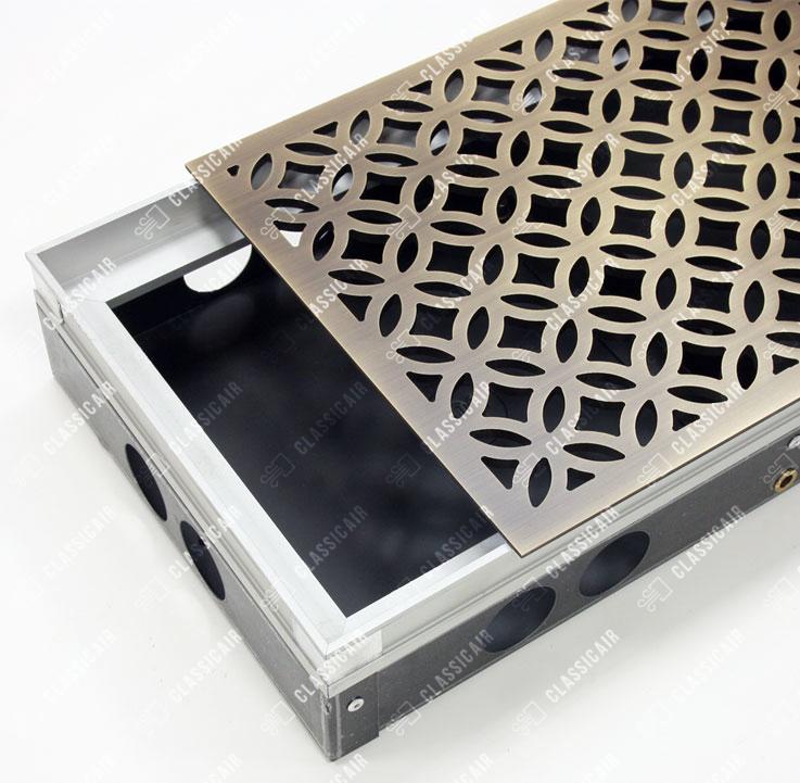 Решетка для встроенного конвектора из состаренной латуни