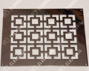 Плоская решетка из полированной стали