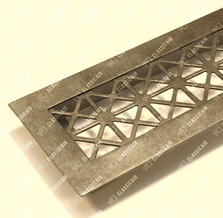 Решетка с декором в античное серебро