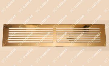 Плоская решетка в подоконник из полированной латуни