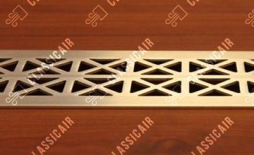 Плоская решетка для подоконника из латуни
