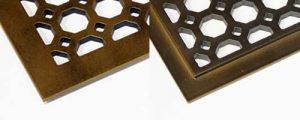 Алюминиевая напольная решетка с выборкой