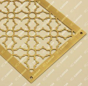 Шлифованная латунная решетка для вентиляции