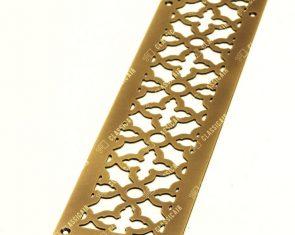 Решетка из старенной латуни с затертостями