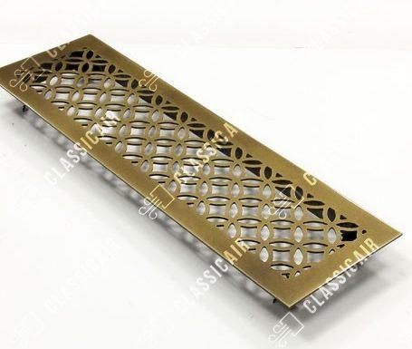 Состаренная решетка из латуни