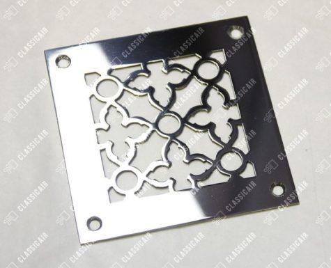 Квадратная решетка из полированной стали