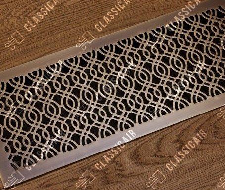 Латунная решетка с волнистым узором