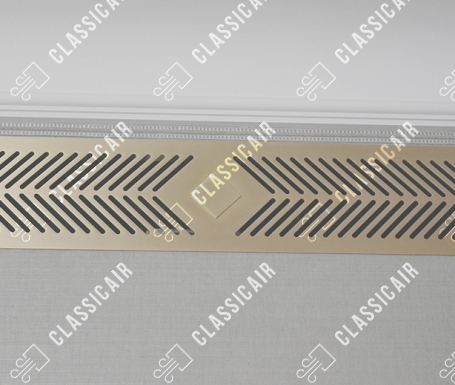 Светлая решетка для вентиляции из латуни