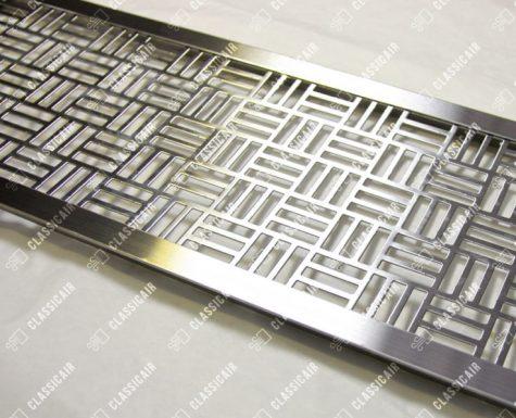 Стальная вентиляционная решетка с накладной рамкой