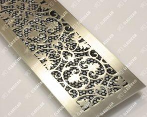 Вентиляционная решетка из шлифованной стали