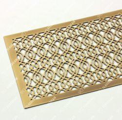 Плоский экран из латуни с затертостями