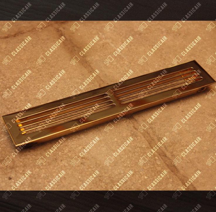 Щелевая латунная решетка с отбортовкой