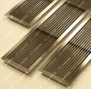 Жалюзийная решетка из шлифованной нержавеющей стали