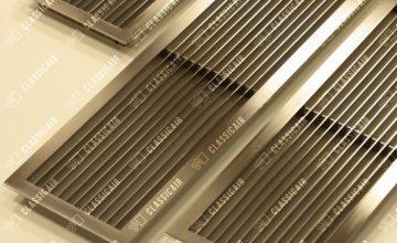Жалюзийные решетки из шлифованной нержавеющей стали