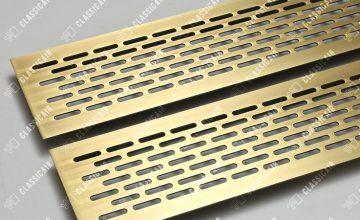 Латунные решетки в подоконник с овалами