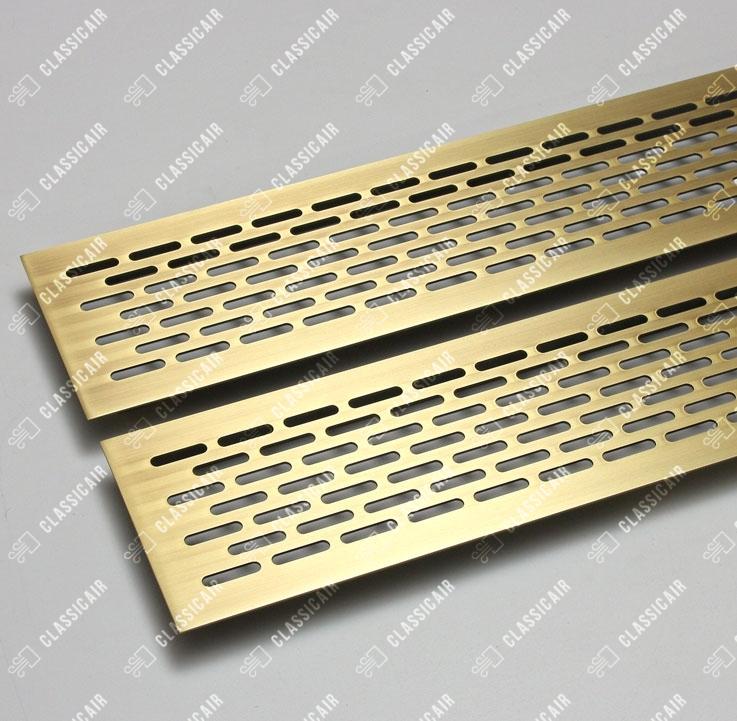 Латунные решетки в подоконник