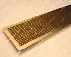 Вентиляционная решетка из латуни с жалюзи