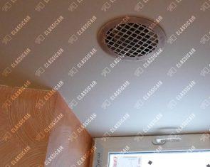 Круглая вентиляционная решетка из латуни со старением