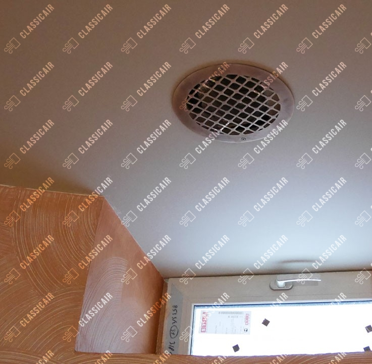 Круглая вентиляционная решетка из латуни