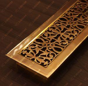Декоративная решетка из латуни на подоконник