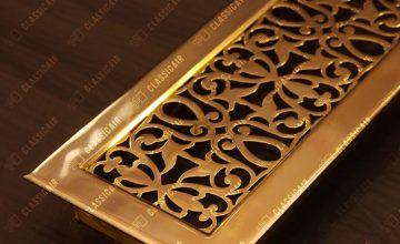 Декоративная решетка из полированной латуни