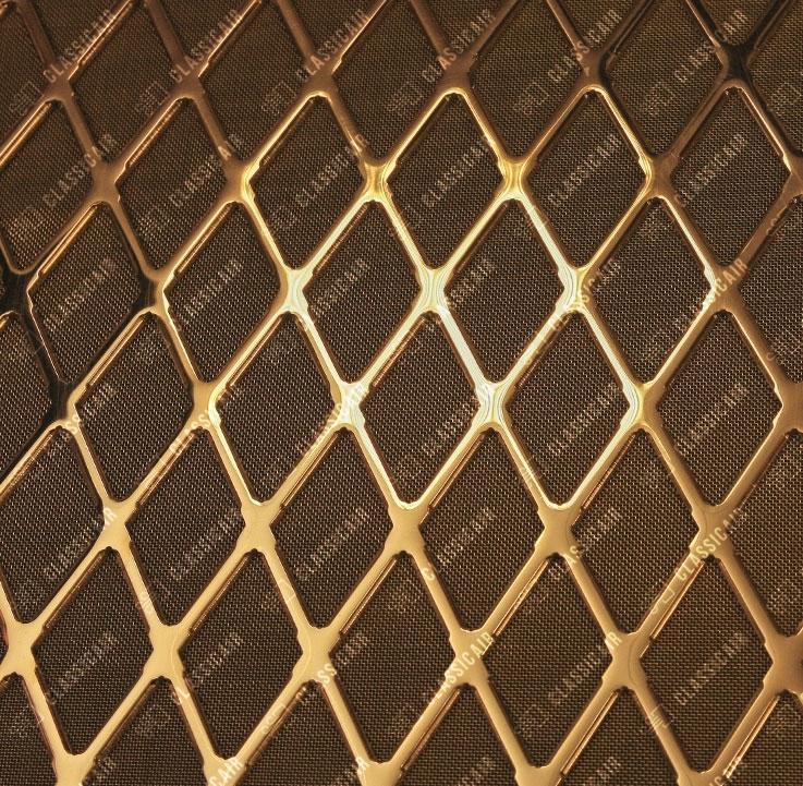 Золотая решетка экрана батареи