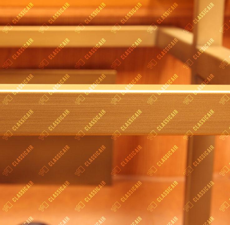 Декоративная покраска под состаренную латунь с риской патины