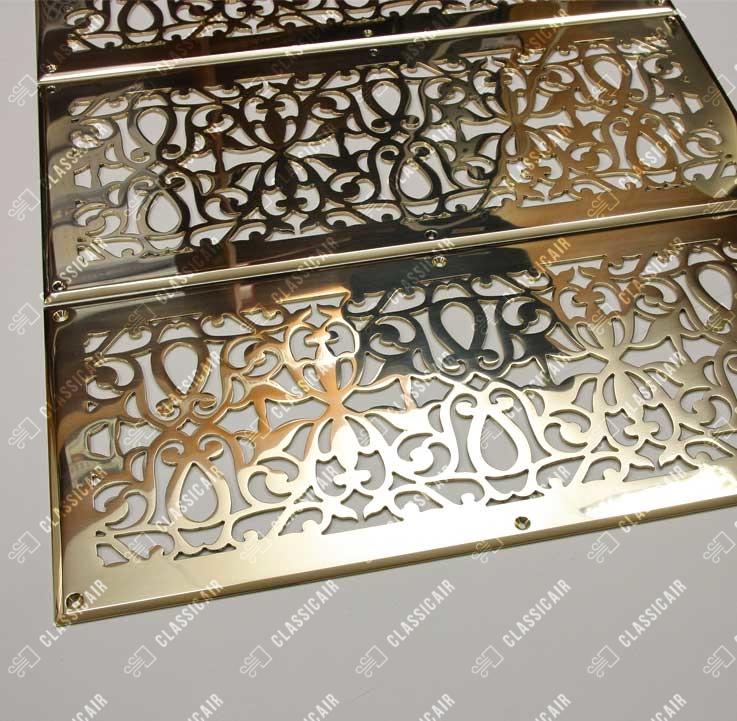 Золотые вентрешетки из полированной латуни с марокканским орнаментом