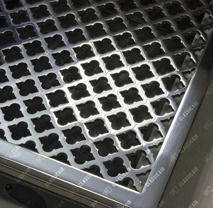 Напольная решетка из нержавеющей стали с узором с отделкой под зеркальный хром