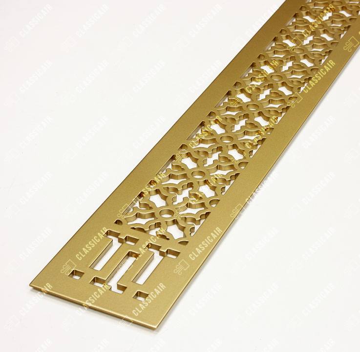 Алюминиевая решетка с покраской под латунь