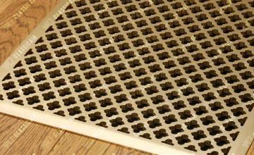 Напольная латунная решетка с матовым сатинированием