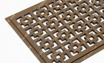 Решетка в пол с покраской в коричневый цвет