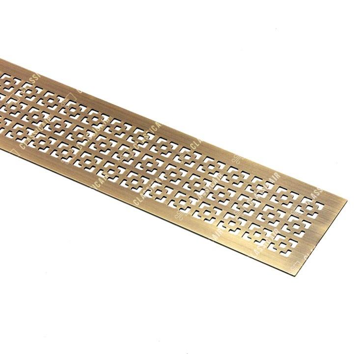 Решетка из латуни для установки в столешницу