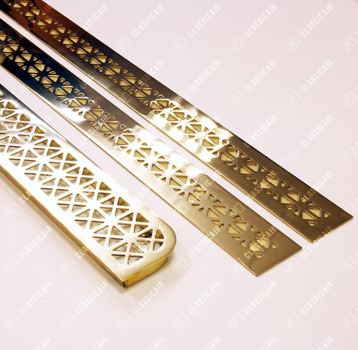 Комплект решеток в подоконники под золото