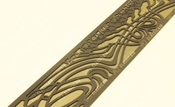 Конвекционная решетка для камина с растительным орнаментом