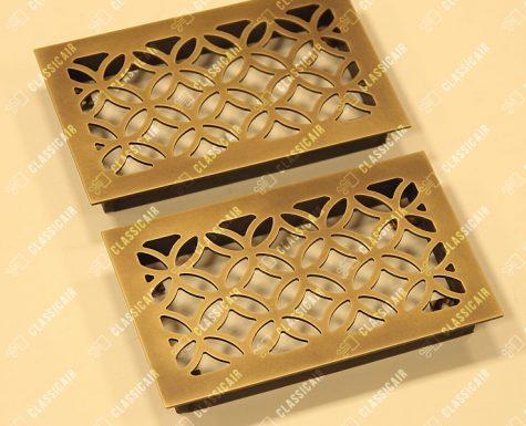 Декоративное оформление вентиляции из патинированной латуни