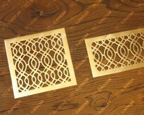 Ажурные решетки из шлифованной латуни