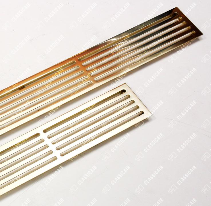 Решетка в подоконник из полированной латуни